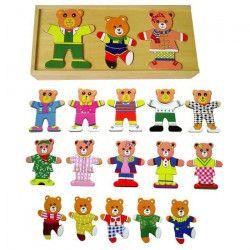 SAPIN MALIN Puzzles Famille Ours a habiller - A partir de 36 mois
