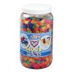 HAMA Pot de 1400 Maxi perles mix néons