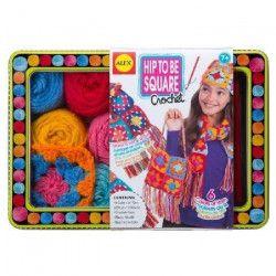 ALEX Fais des carrés en crochet avec accessoires - Pour enfants de 7 ans de plus