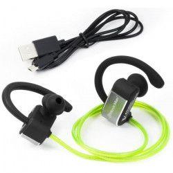 MUSICMAN BT-X28 Ecouteurs Bluetooth lumineux - Vert