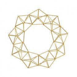 PANDURO Couronne géométrique en Métal - Doré