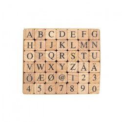 PANDURO Tampons Lettre Numéro - Classique - 42 lettres
