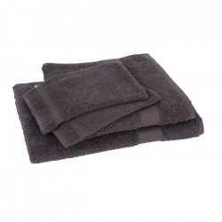 Lot de 1 drap de bain + 1 serviette + 2 gants FAIRTRADE brun
