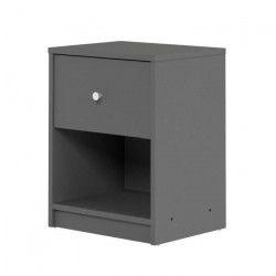 FINLANDEK Table de chevet TYYLIKÄS style contemporain décor gris - L 38 cm