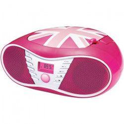 BIGBEN CD58GBGIRLY Radio CD/USB/MP3 portable - United kingdom - Rose