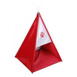 Tente tipi Dogi 47x47x62 cm - Rouge - Pour chien