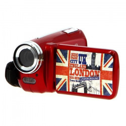 AKOR Caméra Numérique 3 Décors - Rouge - 5 Mp - Zoom Digital 4X Pour Enfant