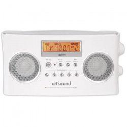 ARTSOUND R6W Radio portable numérique - Blanc - AM & FM RDS