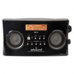 ARTSOUND R6B Radio portable numérique - Noir - AM & FM RDS