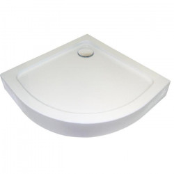 AQUA+ Receveur acrylique Lary L80xP80xH13,7 cm blanc