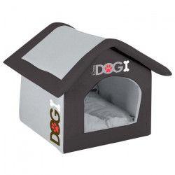 Maison Dogi 54 cm - Gris et noir - Pour chien