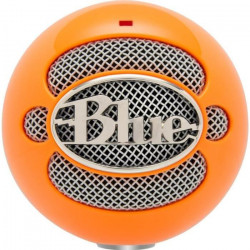 BLUE MICROPHONES Microphone USB a condensateur SNOWBALL NEON - 44.1 kHz/16 bit - Orange - PC / MAC
