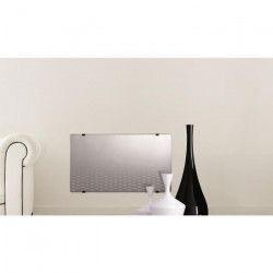 ALPINA Radiateur Panneau rayonnant Verre Miroir LCD 1500 watts - Façade en verre miroir