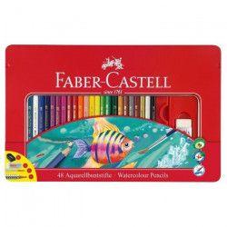 FABER-CASTELL Boîte de 48 Crayons aquarellables - Coloris assortis