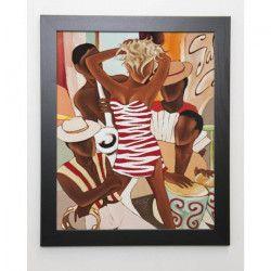 FAREL Image encadrée Salsa café 47x57 cm - Marron
