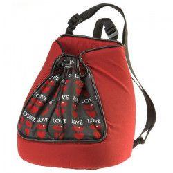 FERPLAST Sac de transport Trip 1 Love en tissu 28x18x29cm - Rouge - Pour chien