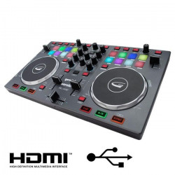 GEMINI SLATE Table de mixage 2 voies USB HDMI