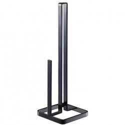 GERSON Porte rouleau papier - 11x11x38,5 cm - Métal noir