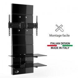 GHOST DESIGN 3000 noir Meuble TV support fixe 32 a 63`