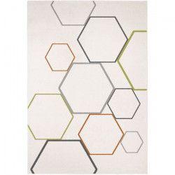 MADRID Tapis style contemporain 120X170 cm Blanc