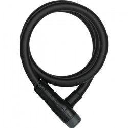 ABUS Antivol-Spiral a clé pour vélo Racer 6415 K - 120 cm - Noir + Support Universel Snap Cage
