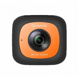 QIMMIQ Caméra 360° Double Lentille VR360 Orange