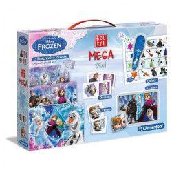 CLEMENTONI - La Reine des Neiges - Mega Edukit 7 en 1 - 3 Puzzles, Domino, Mémo, 6 Cubes et Quizzy