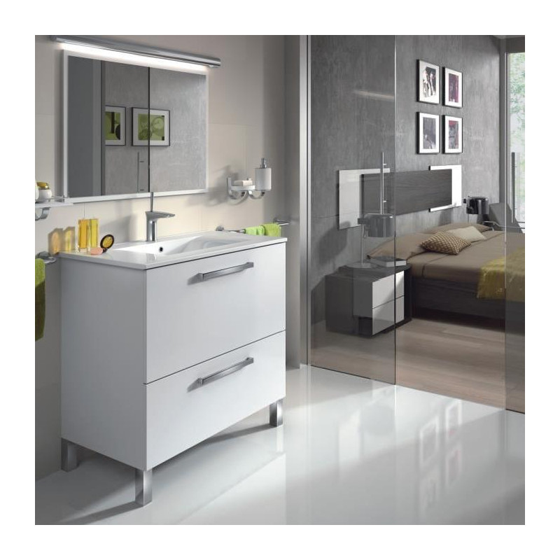 urban ensemble salle de bain simple vasque l 80 cm avec. Black Bedroom Furniture Sets. Home Design Ideas