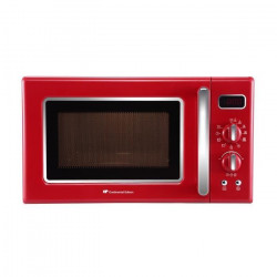 CONTINENTAL-EDISON MO20RV - Micro-ondes monofonction rouge - 20L - 700 W - Pose libre