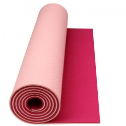 AVENTO Tapis de sol fitness / yoga 6 mm - Rose / Fuchsia