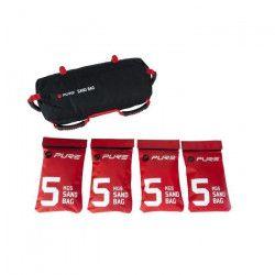 PURE2IMPROVE Sacs de Sable 20 kg - Fitness - Noir/Rouge