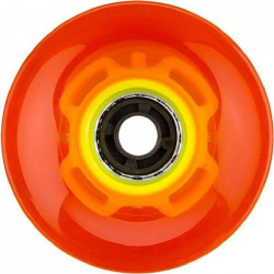 NIJDAM Roues fluorescentes LED pour mini skate plastique - Orange