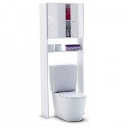 CORAIL Meuble WC ou machine a laver L 63 cm - Blanc Laqué