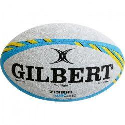 GILBERT Ballon de rugby a 7 ZENON WRX - Entraînement - Taille 5 - Bleu Fizz / Jaune