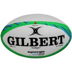 GILBERT Ballon de rugby a 7 SYNERGIE XV-6 - Match - Taille 5 - Vert / Bleu