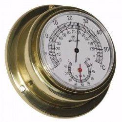 ALTITUDE Thermometre / Hygrometre marin - Laiton - ø 97 mm