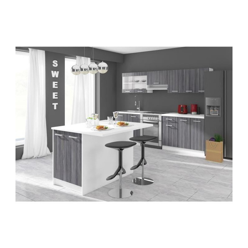 ultra ilot de cuisine l 100 cm avec plan de travail. Black Bedroom Furniture Sets. Home Design Ideas