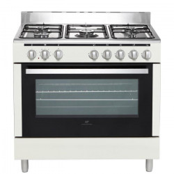 CONTINENTAL EDISON CECP9060MCR - Cuisiniere table Gaz- 5 foyers-3000W- Four electrique-Catalyse-104L-A-L90XH85cm-