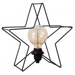 ESTRELLA Lampe a poser étoile métal 32 cm noir