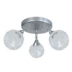 ACTUELLE Suspension - Plafonnier 3 lumieres - Fil aluminium
