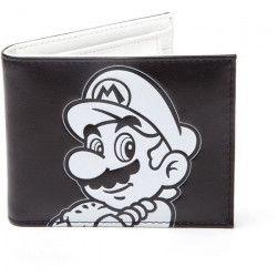 Portefeuille pliable Mario: Super Mario noir et blanc