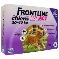 FRONTLINE 6 pipettes Tri-Act - Pour chien de 20 a 40 kg