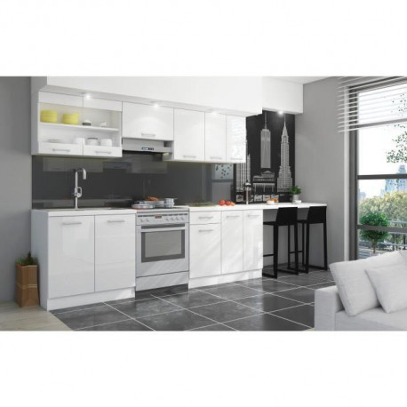 ultra cuisine complete avec plan de travail l 2m40. Black Bedroom Furniture Sets. Home Design Ideas