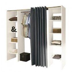 DRESS UP Dressing extensible contemporain blanc mat - L 112 - 185 cm