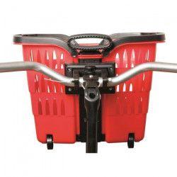 ROTO Panier Trolley Romeo - Avec attache guidon vélo - Rouge