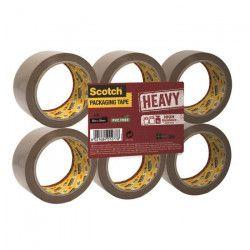 SCOTCH Lot de 6 rouleaux adhésifs d`emballage Heavy - Marron havane