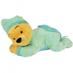 DISNEY Winnie L`Ourson Doudou Allongé Vert 30 cm