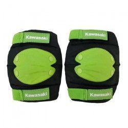 KAWASAKI Kit de Protection Coudes et Genoux Taille L / XL Noir et Vert