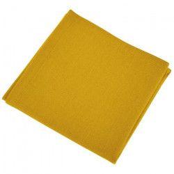 VENT DU SUD Lot de 12 serviettes de table YUCO - Jaune curry