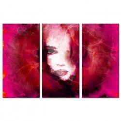 PORTRAIT Tableau multi panneaux 120x80 cm violet